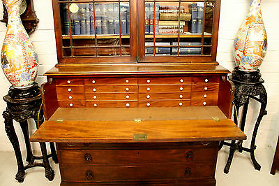 A Georgian Mahogany Secretaire Bookcase 6