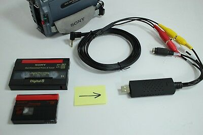 Sony Camcorder for 8mm Digital8 MiniDV Hi8 Tape Transfer to Computer USB and DVD 2