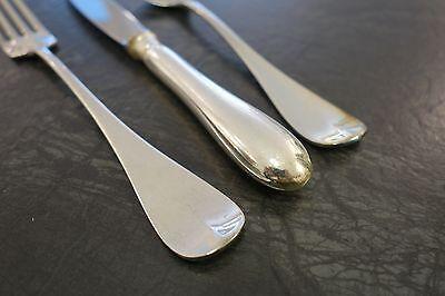 6 Menümesser Wilkens Alt Englisch 90er Silber Besteck Messer 21,9 cm versilbert