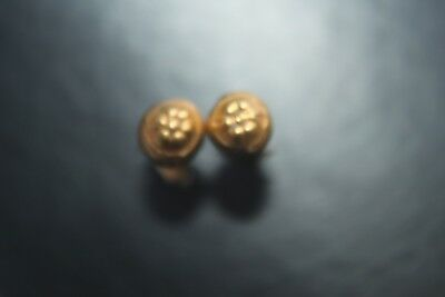 ANCIENT GREEK HELLENISTIC GOLD EAR RINGS 3rd CENTURY BC