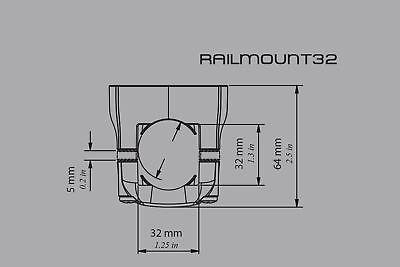Railblaza 19-25 Railmount Halterung Stange (weiß) Montage: schrauben03-4011-21 5
