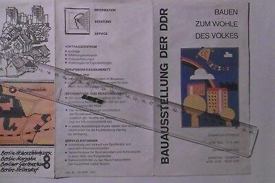 Bauen zum Wohle des Volkse- Bauausstellung der DDR 1987- Klappkarte