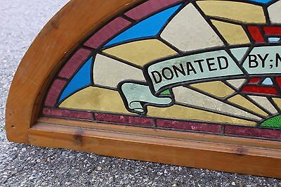 Arched Top Antique Victorian Stained Glass Window Architectural Salvage Church 7