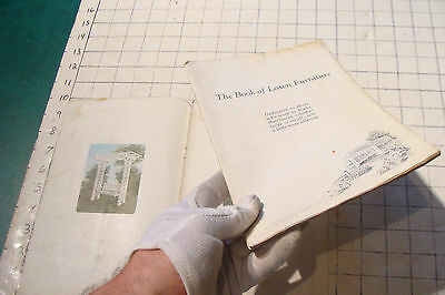 1925 THE BOOK OF LAWN FURNITURE--Long Bell lumber--CATALOG, 36pgs STAINED 4