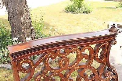 19C Italian Baroque Royal Palace Carved Gilded Oak Serpentine Hand Rail 11