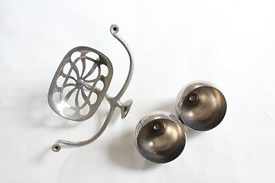 antique bathroom cup soap holder | art brass co vtg bath deco cup soap holder 3
