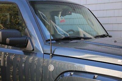 "2001-2005 Chrysler Sebring Coupe 8/"" Black Stainless AM FM Antenna Mast FITS"