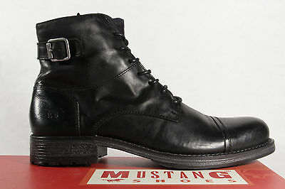 san francisco 7aa37 ea133 MUSTANG MEN'S BOOTS Ankle Boots Winter Boots Genuine Leather NEW