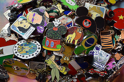 Disney Pin Trading 50 Assorted Pin Lot -  No Doubles – Tradable 2
