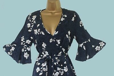bf34c96533 ... New Monsoon Blue White Floral Party Occasion Tea Dress 8 10 12 14 16 18  20