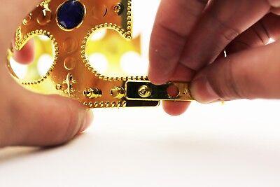 Gold Royalty Plastic king Queen Crown Princess Tiara Prince Crown Costume 4