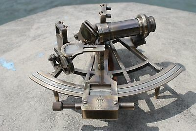 "Nautical Hand-Made Heavy 7"" Brass Sextant Astrolabe Sextant - By Masco-Nauticals 3"