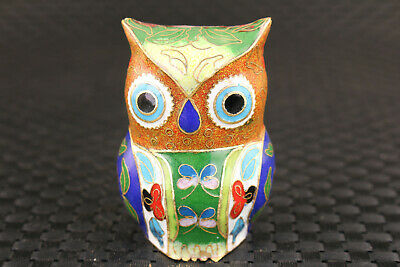 Rare chinese cloisonne handmade owl horse statue figure collectable noble gift 6