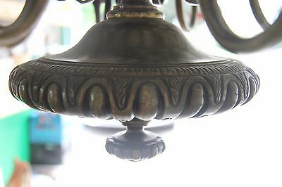 Vintage French Solid Bronze Eight-Arm Chandelier Griffin/Gargoyle/Grotesque 3