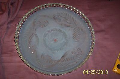 """Antique Vintage Globe Shade Blue Oversized 14"""" 4"""