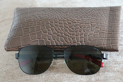 Tumi Vasco Mens Carbon Fibre Polarized Sunglasses Black & Red Festival Classics 10