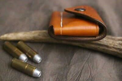 .44 Mag Ammo Leather Belt//Pocket 6-Cartridge Dump Pouch