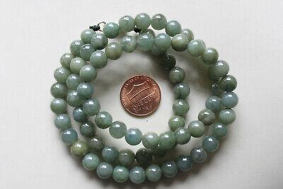"Genuine 100% Natural Jadeite ""Grade A"" Beautiful Oily Green JADE Necklace #N291 8"