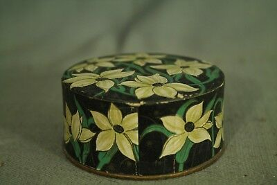 rare vintage old Powder Box Friend making package Doux Jasmin France flowers 4