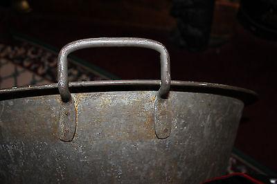 Vintage Steel Metal Circular Basin-Machine Shop Garage Large Slop Bucket Planter 8