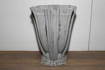 Large Antique French Art Deco Cast Iron Vase. 5