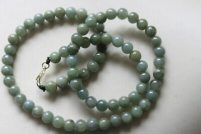 "Genuine 100% Natural Jadeite ""Grade A"" Beautiful Oily Green JADE Necklace #N291 3"