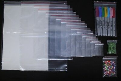 Small Clear Grip Self Press and Seal Resealable Polythene Zip Lock Plastic Bags 4