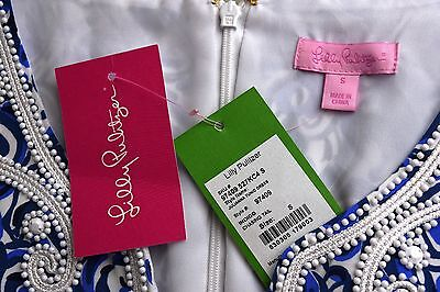 f59c8bc7ca3285 ... New Lilly Pulitzer JULIANNA EMBROIDERED TUNIC DRESS Indigo Chasing Tail  S 6