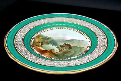 Antique Fine English Porcelain Plate Foot of Snowdon Pat 2399 Circa 1850 3