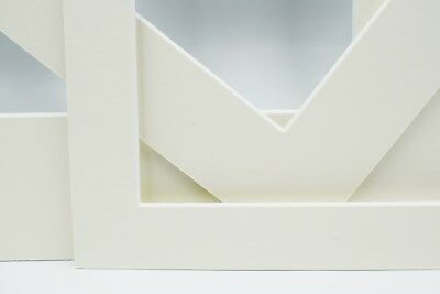 Ivory Photo Picture Frame Mounts Bevel Cut 1.4mm White Core Mount board 3