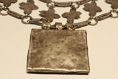 Rare Post Medieval Unique Hand Made Low Sample Silver Necklace With Crosses 10
