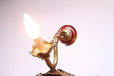 Vintage Brass/Bronze Spherical Chandelier Cherub/Masks/Stars 12