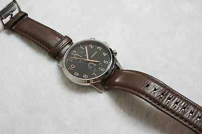 5f79d811e ... Fossil Men's FS4873 Townsman Stainless Steel Watch With Brown Leather  Band 7