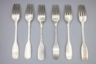 "Hans Hansen Susanne Sterling Silver Luncheon / Salad Fork – 6 1/2"" – Set of 6 2"