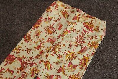 LuLaRoe KIDS Leggings Pale Yellow White Mustard Berry Colors Abstract Print L/XL 3