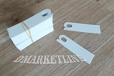 PUSH ON PLASTIC- clip White Plant Labels Nursery - Tags 3 3/4