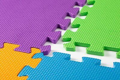 Kids Children PlayMats Soft Foam Interlocking Play Mats Outdoor Activity 9 Pc 10