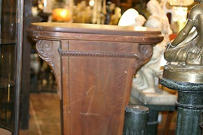 Turn Of The Century Antique  Tall , Wide Carved  Pedestal Column 4
