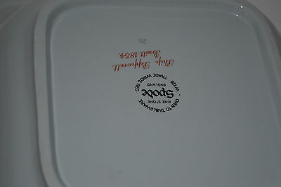 SPODE TRADE WINDS Red 9\'\' Square Vegetable Bowl/ship Pepperell ...