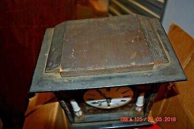 ANTIQUE CUCKOO clock WALL CLOCK WOODEN PLATES CLOCK BEHA??? for parts 11