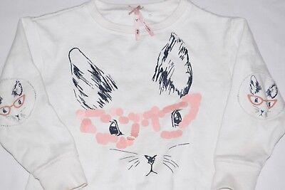 GIRL'S NEXT 4 Yrs OLD CAT SWEAT SHIRT VGC 2