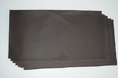 chute de cuir de couleur  Marron   grainé format ( 40 sur 20 cm )   vachette 2