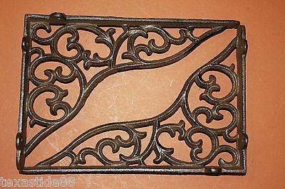"(8)pcs, 11"" SHELF BRACKETS, CAST IRON, LARGE, VINTAGE LOOK, DIY SHELVING, B-18 3"