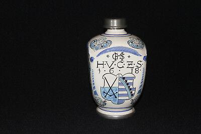 Apothekerkrug Keramikkrug Apothekergefäß mit Zinn Schraubverschluß Ulmer Keramik 5