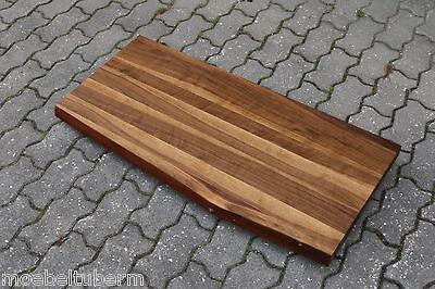 waschtisch tischplatte platte nussbaum massiv holz mit baumkante neu leimholz eur 260 00. Black Bedroom Furniture Sets. Home Design Ideas