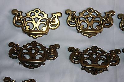 Vintage Bronze Colored Metal Drawer Handles Pulls (12)  & Cabinet Knobs (8) 7