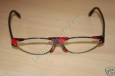 144e3f925d1abc 8 sur 12 Deffaugt Lunettes monture plastique noir rouge optique vue soleil  Vintage