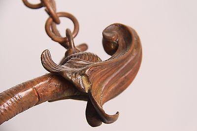 19C French Bronze Winged Griffin/Gargoyle/Dragon Chandelier 8
