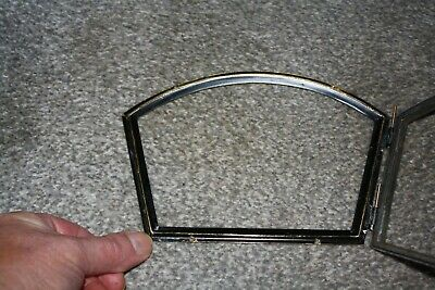 Vintage 1930s Enfield mantel clock hinged chrome bezel for parts/spares/repairs 5
