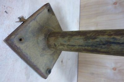 Antique Architectural Cast Iron Double Light Fixture Ornate HD Bracket Lamp 6